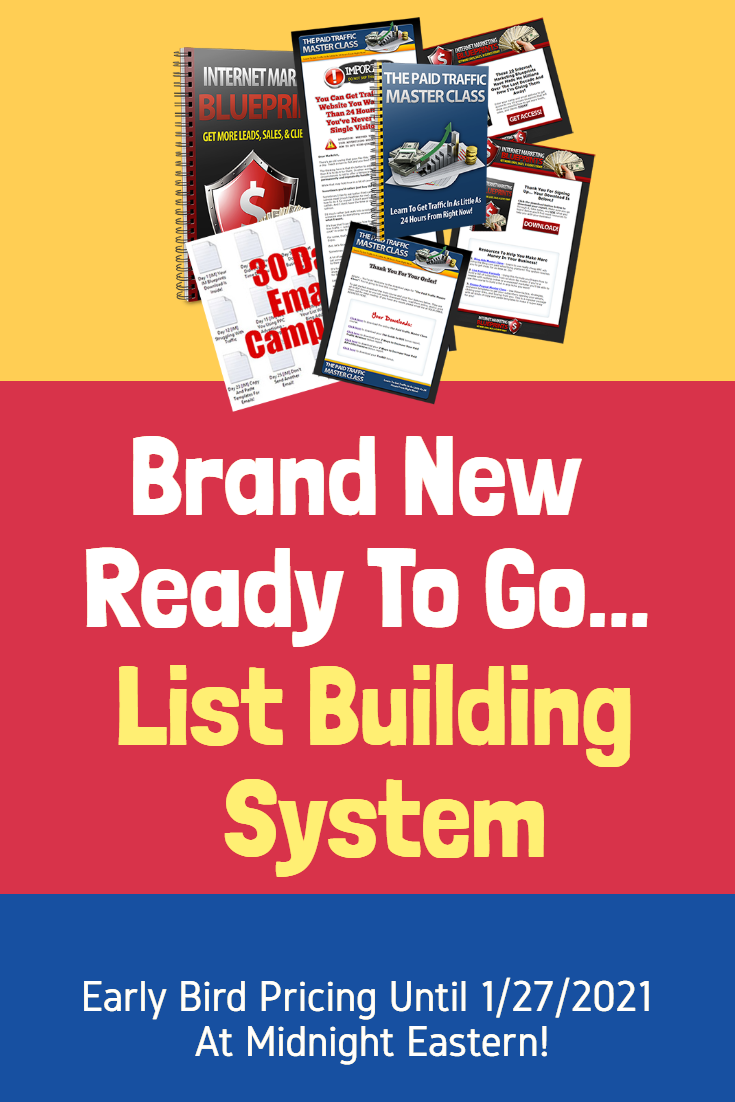 Brand New List Building System!